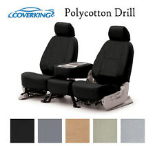 Coverking Custom Front Row Seat Covers Polycotton Drill - Choose Color