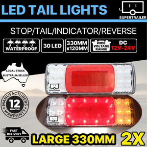 2X 30 LED Tail Lights Truck Ute Caravan Trailer Stop 4WD 4X4 rear LAMP 12V 24V