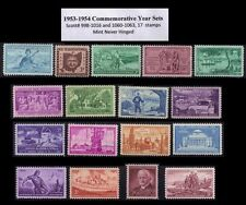 RJames: 1953-1954 Commemorative year sets (17 stamps) , MNH, F-VF