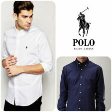 Ralph Lauren Long Sleeve Poplin Shirt Men's Slim Fit Casual Top New Sale !