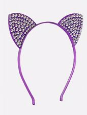 Justice Girl's Gem CAT Ear Headband in Purple New with Tags