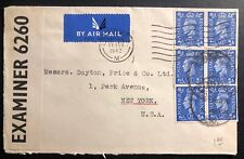 1942 London England Airmail Censored Cover To Dayton Price New York Usa