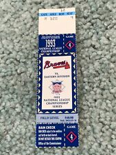1993 NLCS Full Baseball Ticket Atlanta Braves v  Philadelphia Phillies Game 4