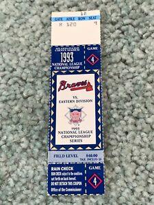 1993 NLCS Full Baseball Ticket Atlanta Braves v  Philadelphia Phillies Game 4