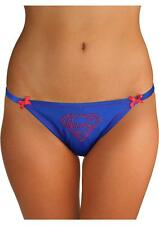 SuperMan Bikini Pantie Gem Logo w/ Lace Back Small Red & Blue Comic Fan Lingerie