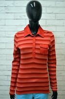Polo Maglia a Righe Donna TOMMY HILFIGER Taglia M Manica Lunga Shirt Woman
