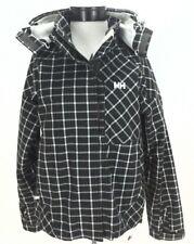 EUC $300 HELLY HANSEN Tech Plaid Winter Jacket Hood Waterproof Brown Womens M *