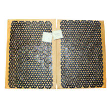 NEW Set of 4 Placemats: 2 Bamboo & 2 Fabric, Yellow Gold, Black Coconut Flower