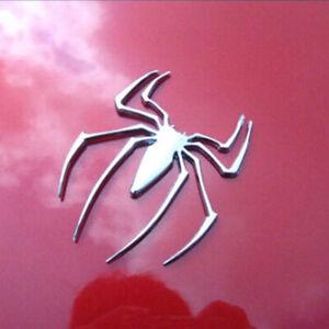 3D Car Rear Truck Spider Chrome Badge Emblem Logo Sticker Trim Accessories