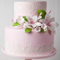 4 LARGE EDIBLE FLOWERS LACES Anniversary BabyShower Birthday wedding CAKE BABY