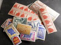 FRANCE, 1 LOT de 500 ANCIENS FRANCS AF, timbres neufs de 2 af à 50 af