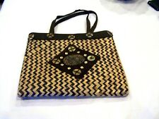 Lollipops Paris Atelier brown straw purse/handbag/pocketbook
