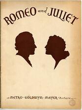 Romeo & Juliet 1936 • MGM Picture Theatre Program • Dir. Cukor, Howard, Shearer
