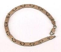 99825672 Armband 925er Silber geometrische Glieder 22x0,5cm