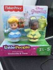 New Fisher Price Little People Disney Princess  Cinderella Tiana Gus Frog