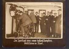 117860 Foto DKW Motoren Motorrad Sportsaal Hometrainer Wettfahren im Stand 1928