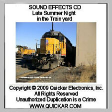SOUND EFFECTS CD FOR O SCALE MODEL RAILROADS LATE SUMMER NIGHT IN THE TRAIN YAR