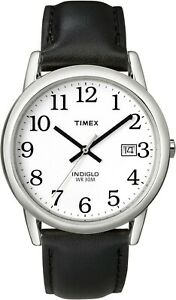 Timex Mens Watch T2H281, Leather strap, Indiglo Night Light