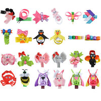 24 Pcs Different Animal Clips Stacked Hair Bows Hair Clip for Children's day