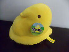 "Peeps 8"" Plush Yellow Easter Marshmallow Treat Chick Stuffed Toy Nwt"