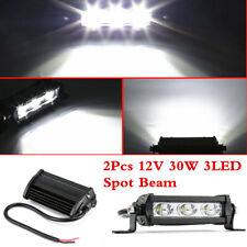 2x 30W 3LED Spot Work Light Bar Waterproof Fog Headlight For Car Offroad Boat