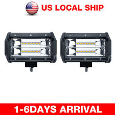 2x 240W Cube LED Pod Work Light Bar Flood Beam Off-Road Driving Fog Lights Lamps