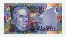 De La Rue GREAT BRITAIN Test Note w/ Security Thread - No Serial #'s CU