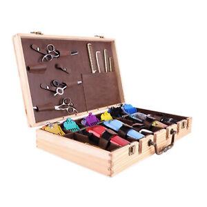 Salon Barber Tool Bag Hairdressing Scissors Clipper Comb Storage Case Wood