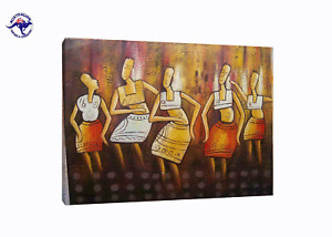 THE ULTIMATE DANCE OIL PAINTING MODERN  HANDMADE ON CANVAS-2 SIZES WOODEN FRAME