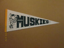 MWL Madison Muskies Vintage Defunct Circa 1980's Team Logo Baseball Pennant