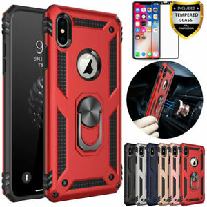 For iPhone X XR XS Max Heavy Duty Hybrid Shockproof Armor Cover Case i07