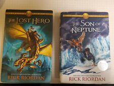 The Heroes of Olympus: Son of Neptune, Lost Hero Rick Riordan 1 & 2 Hardcover