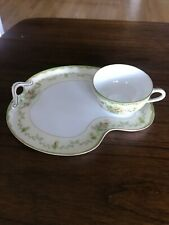 Noritake M hand painted Tea Cup and Snack plate, Made in Japan