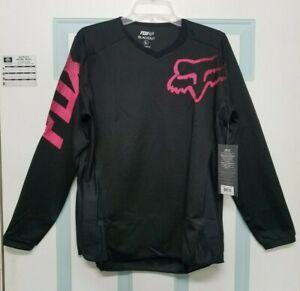 New Fox Womens Blackout Black & Pink Motocross ATV Jersey Large & XL 12337-285