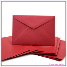 C6 Metallic Red Lacquer Envelopes - Pack of 25