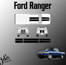 Ford Ranger Rally Racing Stripes Vinyl Decal Sticker Graphics Kit Truck