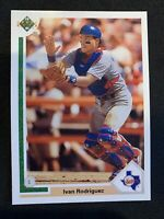 IVAN PUDGE RODRIGUEZ 1991 Upper Deck Final Edition Rookie Texas Rangers RC