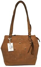NWT Jessica Simpson Woman's Tote, Saddle, MSRP: $138.00, Gold-Toned Hardware