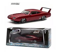 1:43 Greenlight Fast & Furious Dom's Maroon 1969 Dodge Charger Daytona