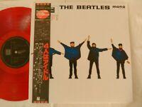 The Beatles HELP JAPAN ORIGINAL 1982  UK CUTTING LIMITED MONO RED COLOR W/OBI