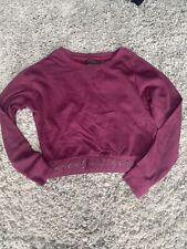 Victorias Secret Purple / Maroon Crop Sweat Top In Size S!