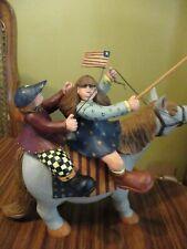 Williraye Studios Ww1312 Americana Kids On Horse with Flag