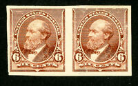 US Stamps # 224p5 VF OG H Pair Scott Value $225.00