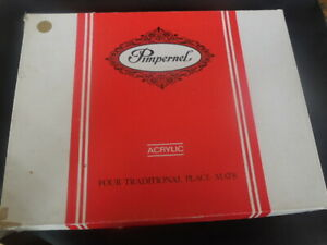 Set Of 4 Pimpernel England Cork Backed Placemats In Box