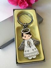 NEW 24 Baptism Boy Angel Party Favors Keepsakes Keychains Recuerdos de Bautizo