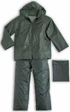 Impermeabile Giacca e Pantaloni Verdi  Completo anti pioggia cerata HH305