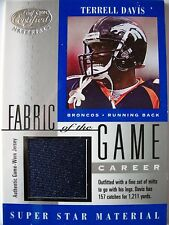2001 LEAF CERTIFIED FABRIC OF THE GAME TERRELL DAVIS 147/157 !! BOX 2