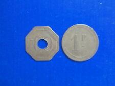 2 ANCIENS JETONS CASINO 60 CENTIMES 1 FRANCS ORIGINAIRE DE ROYAT ???