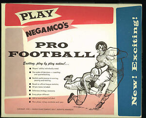 Negamco NFL & AFL Football Game  Mint  various editions  Your Choice!