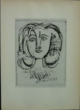 "Picasso 1947 Girl's Head from ""49 Lithographs"" - Lear New York - Mounted"
